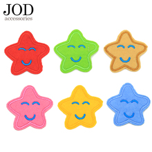 цена на Cute Cartoon Patch Children Smile Emoji Star Iron on Patches for Clothing Kid Boy Girl Clothes Wear Sticker Sewing Accessories