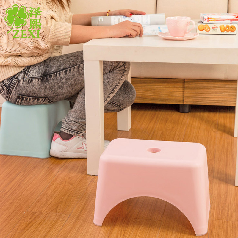 T4003 Japanese Style Creative Fashion Plastic Small Stool Storage Organizing Storage Shelf Durable Footstool