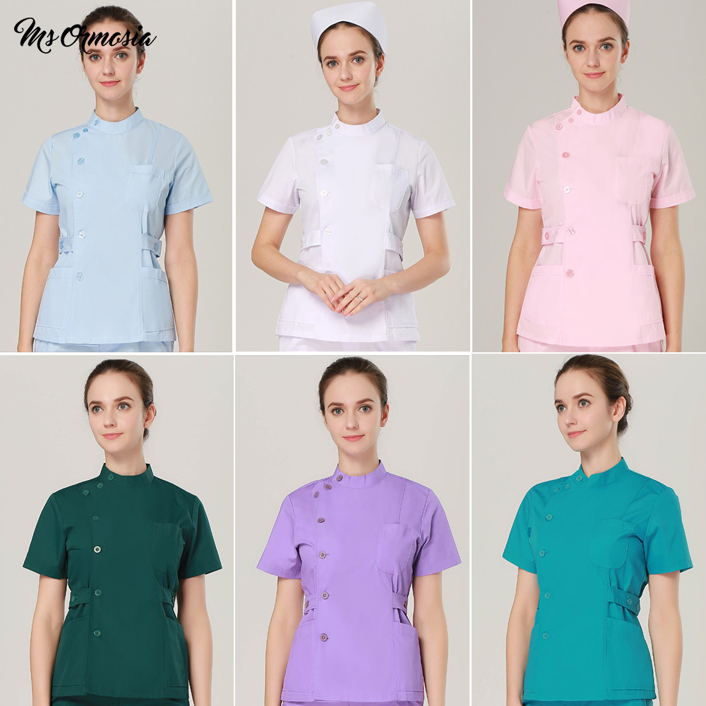 Hospital Doctor Surgery Uniforms V-Neck Beauty Scrubs Medical Uniform Women Sets Surgical Gowns Medical Hand Washing Clothes
