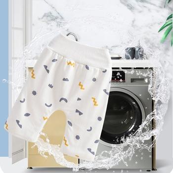 2 w 1 wygodne wodoodporne chłonne zmywalne spodnie na pieluchy dziecięce spodenki dziecięce z czystej bawełny 97BC tanie i dobre opinie MLMERY Unisex 12-16 kg CN (pochodzenie) 7-12m 13-24m 25-36m Majtki laboratoryjne 1 Pc Pure Cotton
