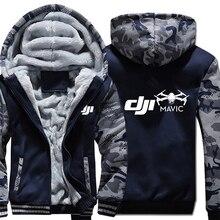 Dji Mavic Pilot Hoodies Camouflage sleeve Jacket Hoody Zipper Winter Fleece DJI Sweatshirt