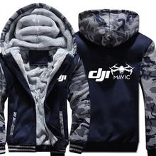 Dji veste à capuche en molleton dhiver, manches Camouflage, fermeture éclair, Mavic Pilot