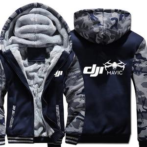 Image 1 - Dji veste à capuche en molleton dhiver, manches Camouflage, fermeture éclair, Mavic Pilot