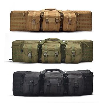 Tactical 93 / 118cm Heavy Bag Rifle Airsoft Pistol Hand Carry Bag Outdoor Shooting Hunting Bag With Molle Pouch Rifle Case david watson abcs of rifle shooting