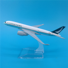 Airplane Model Pacific Hong-Kong Cathay Simulation Airlines Kids Toys Metal Diecast Airbus A350