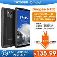 DOOGEE N100 téléphone portable 10000mAh batterie empreinte digitale 5.9 pouces FHD + affichage 21MP caméra MT6763 Octa Core 4GB 64GB téléphone portable 4G-LTE