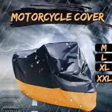 Housse de moto anti-poussière pour vélo, housse de protection Uv universelle imperméable pour Scooter, sac de rangement extérieur, M L XL XXL XXXL W8Y9