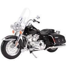 Maisto 1:12 2013 flhrc estrada rei clássico morrer cast veículos collectible hobbies motocicleta modelo brinquedos