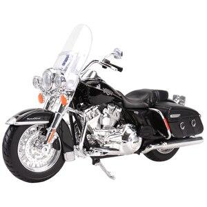 Image 2 - Maisto 1:12 2014 Sportster Ferro 883 Dyna Street Glide Road King CVO Breakout Electra Glide Pressofuso In Lega Modello di Moto Giocattolo
