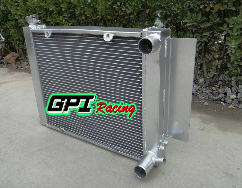 NEW ALUMINUM RADIATOR FOR MAZDA RX2 RX3 RX4 RX5 69-83 MT S1 S2 WITH HEATER PIPE