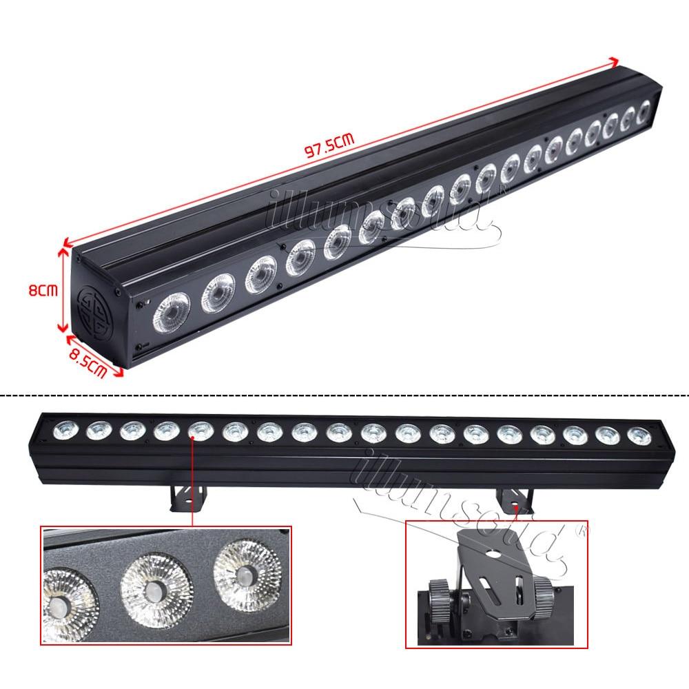 Светодиодная стойка для сценических светильников 9X10 Вт RGBW 4в1 светодиодный настенный светильник Освещение сцены Эффект настенный светодио... - 3