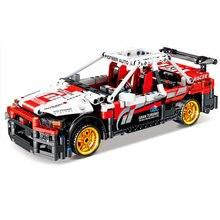 KAZI KY1020 R34 ingénierie mécanique retirer série de voitures de sport blocs de construction modèle briques jouets pour enfants garçons cadeau