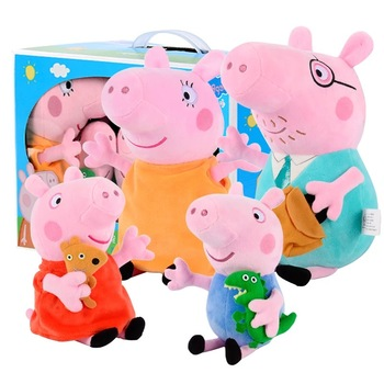 Genuine Peppa Pig George Family Plush Dolls Party decoration Accompanying children Peppa Pig Toys For Children's birthday Gifts happy birthday peppa