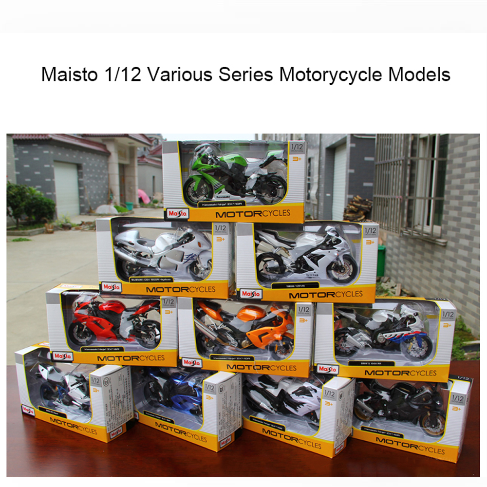 Maisto 1:12 Kawasaki MV Agusta Ducati KTM Benelli Suzuki Alloy Motorcycle Diecast Display Models Children Toys Kids Boys Gift