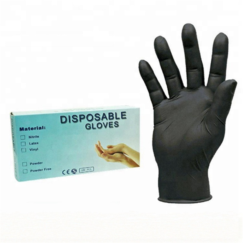 20/100 PCS Black/Blue Disposable Gloves Gant Latex Super Thin Universal Latex Nitrile Gloves For Dishwashing/Kitchen//Work S/M/L