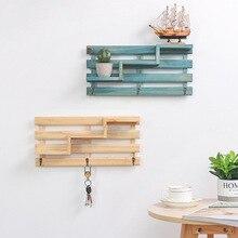 Christmas Living Room Home Decoration Wood Craft Work Wall Hanging Shelf Vintage  Pastoralism Style