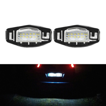 2X WHITE FOR HONDA CIVIC ACCORD TYPE R EP3 FOR ACURA MDX TL TSX LED NUMBER PLATE LIGHTS image