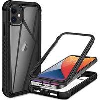 360 custodia protettiva per schermo intero per iPhone 12 Pro Max Mini 11 XS X XR 6 6S 7 8 Plus SE 2 Cover antiurto per telefono