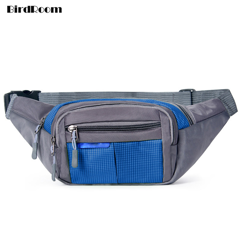 Fashion Waist Bag For Men Outdoor Fitness Women Running Waist Packs Large Capacity Cashier Package Multi-function Tool Pockets