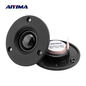 цена на AIYIMA 2Pcs 3 Inch Tweeter Speaker 25 Core Silk Membrane 4 6 OHM 20W Treble Loudspeaker HIFI Sound Speaker Home Theater DIY