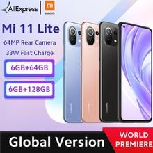 Глобальная версия смартфона Xiaomi Mi 11 Lite, Восьмиядерный процессор Snapdragon 732G, 64 ГБ/128 ГБ, задняя камера 64 мп, 4520 мАч, NFC