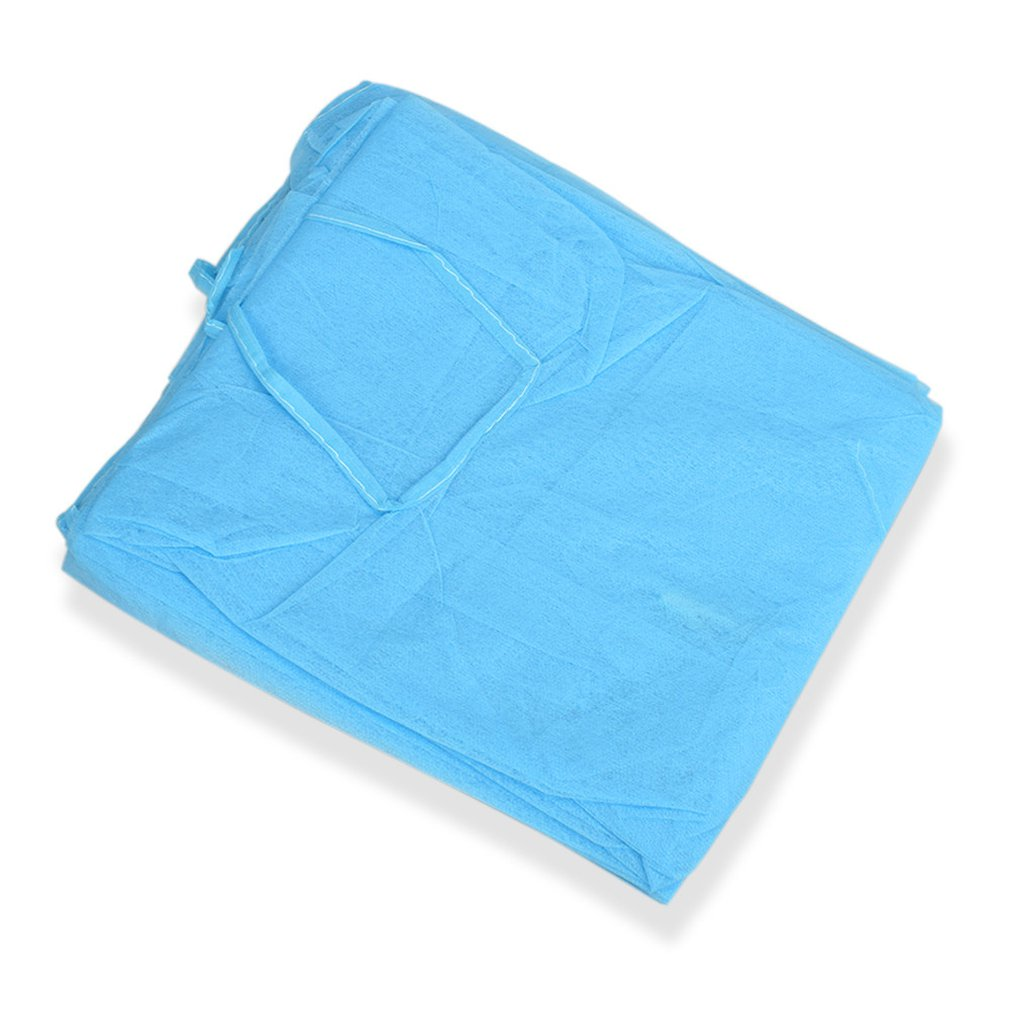 Disposable Surgical Gown Thin And Light Dust Blue Clothes One-time Aprons Medical Clothing Cleanroom Garment