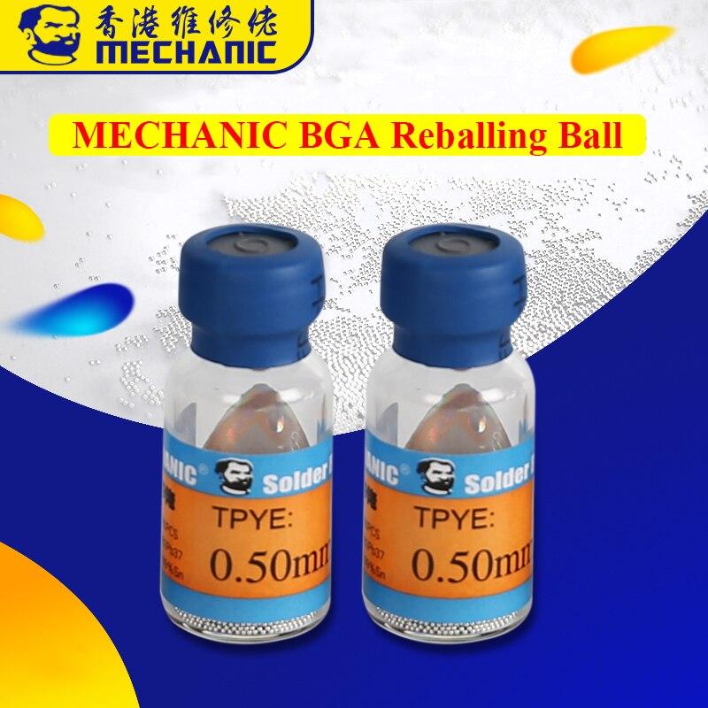 Шарики для реболлинга Mechanic BGA 0,2/0,25/0,3/0,35/0,4/0,45/0,5/0,55/0,6/0,65, паяльный шар BGA для реболлингового трафарета BGA
