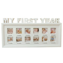12 Months My First Year PVC Infant Souvenirs Newborn Baby Multifunctional Show Picture Photo Frame Ornaments Girls Boys Moments