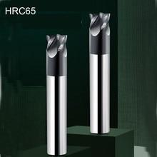 HRC65 4 flety stal wolframowa krótki frez trzpieniowy CNC bity powłoka DLC frez trzpieniowy frez CNC obróbka zgrubna dla HSS narzędzia tnące