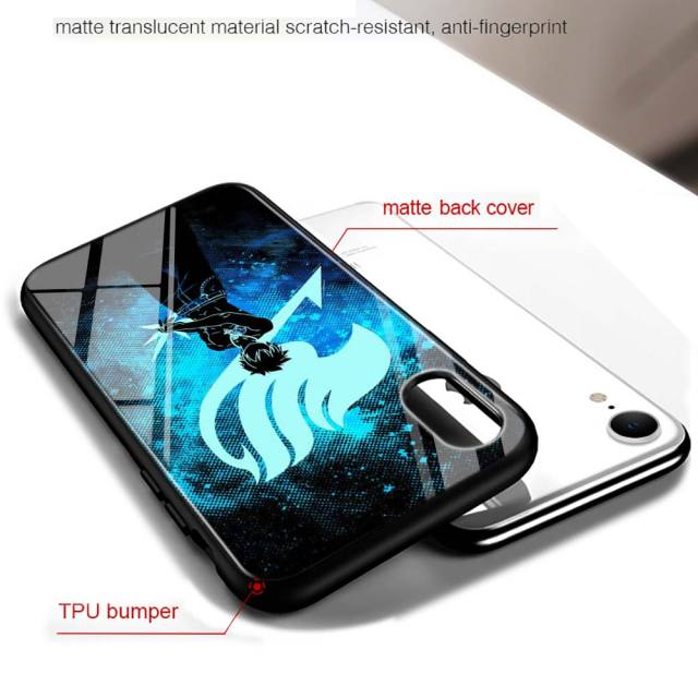 Fairy Tail Glossy Cover for iPhone 11 11Pro X XR XS Max for iPhone 8 7 6 6S Plus 5S 5 SE