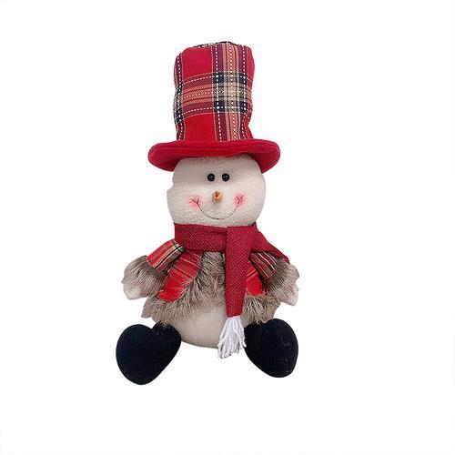 Хит, 30 стилей, рождественские украшения для дома, Рождественские куклы, елочные украшения, инновационная декорация с лосем, Сантой, снеговиком - Цвет: 02 34x19cm