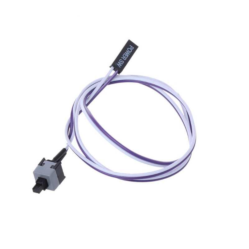 Envío directo de Los ordenadores de sobremesa ATX Power On Supply cable reinicio cable Switch Connector