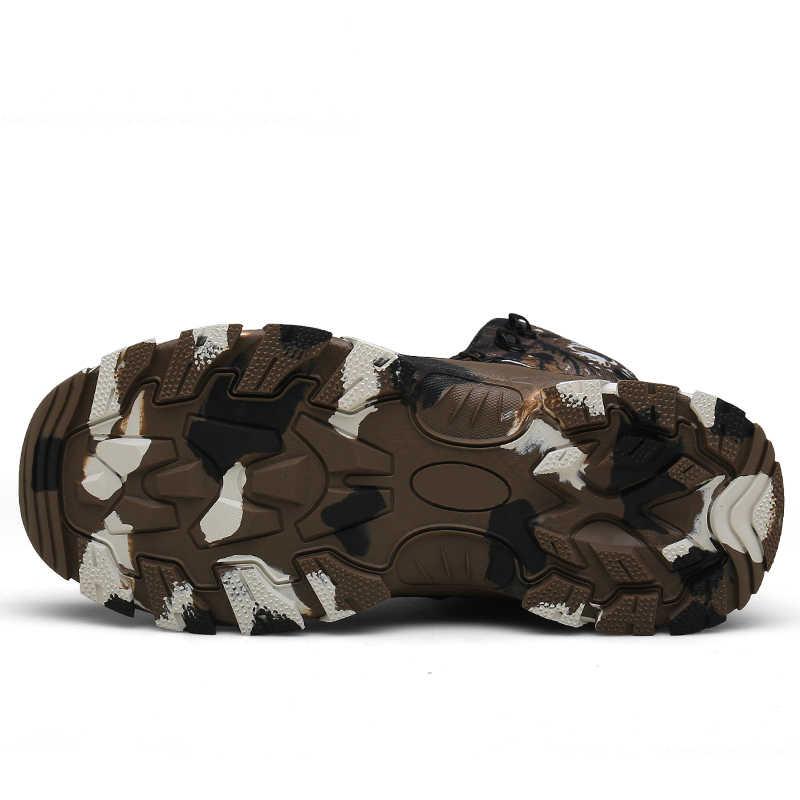 Super Cool mężczyźni wojskowe taktyczne obuwie kamuflaż buty dla mężczyzn wysokiej jakości na zewnątrz buty wojskowe męskie duży rozmiar buta