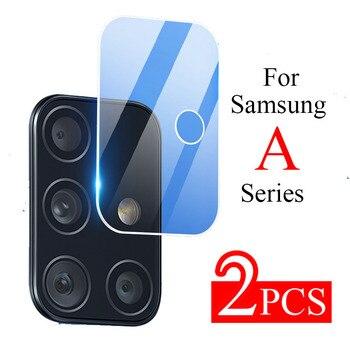 Перейти на Алиэкспресс и купить 2 шт. стекло объектива камеры для Samsung Galaxy A51 A71 5G A11 A21 A31 A41 2020 Закаленное стекло протектор A20 A30 A40 A50 A70 пленка