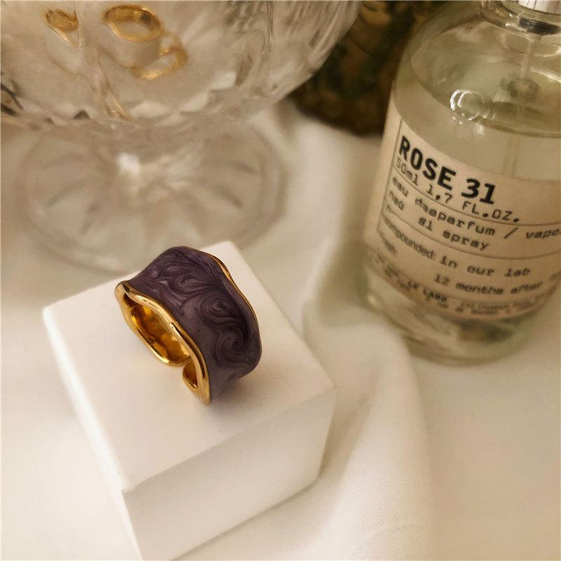 XIYANIKE 925 argent Sterling français Vintage incrusté or jante irrégulière lisse anneau de haute qualité à la main romantique mode Couple 4