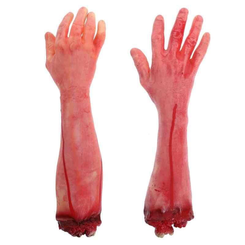 Horror Adereços Halloween Casa Assombrada Decoração Do Partido Assustador Sangrento Mão Mão Falso Dedo Do Pé Fontes Do Dia Das Bruxas