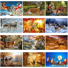 Diy 5d diamond painting forest resin deer embroidery animal