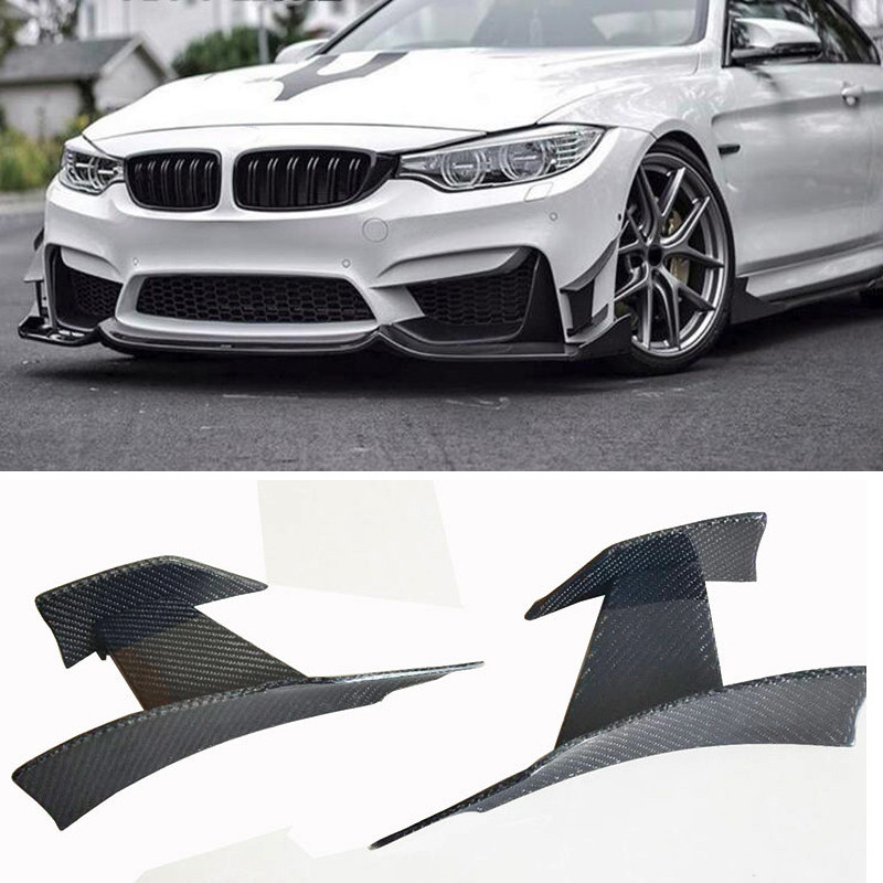 MA-0D Style Carbon fiber Front bumper Wind knife For BMW M3 M4 F80 F82 image