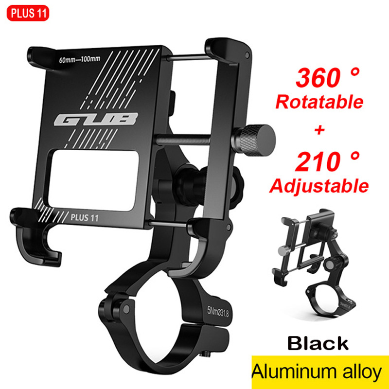 GUB Plus 11 360 Rotating Bicycle Mobile Phone Holders Stands Aluminum Motorcycle Phone Holde Bike Handlebar Mobile Phone Stents
