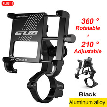 GUB Plus 11 360Rotating Motorcycle Bicycle phone holder for bike Mobile support bike Phone stand Aluminum Holder for phone stand