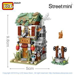 Image 4 - Мини конструктор LOZ, китайская уличная китайская традиция, специальная модель «сделай сам», сборные игрушки для детей, Образовательное аниме