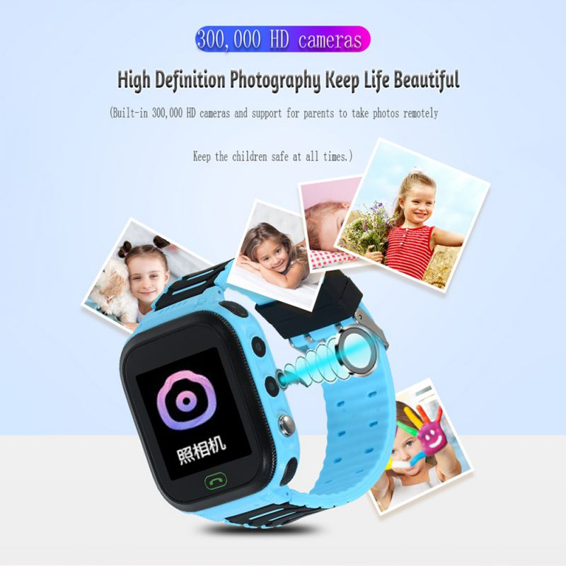 Kids Smartwatch Waterproof LBS Wristwatches With SOS Camera Alarm Clock 1.44 HD Screen Games For 3-12 Year Old Boys Girls Gift