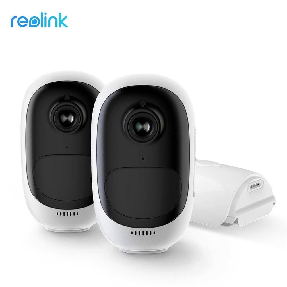 Reolink-caméra de surveillance intérieure/extérieure IP WiFi hd 100% P (Argus Pro), dispositif de sécurité sans fil 1080, étanche, batterie, 2 paquets