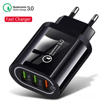Quick Charge 3.0 USB Phone Charger For Samsung S8 S9 Xiaomi mi 8 Huawei P20 Fast Wall Charging For iPhone 6 7 8 X XS Max XR iPad цены