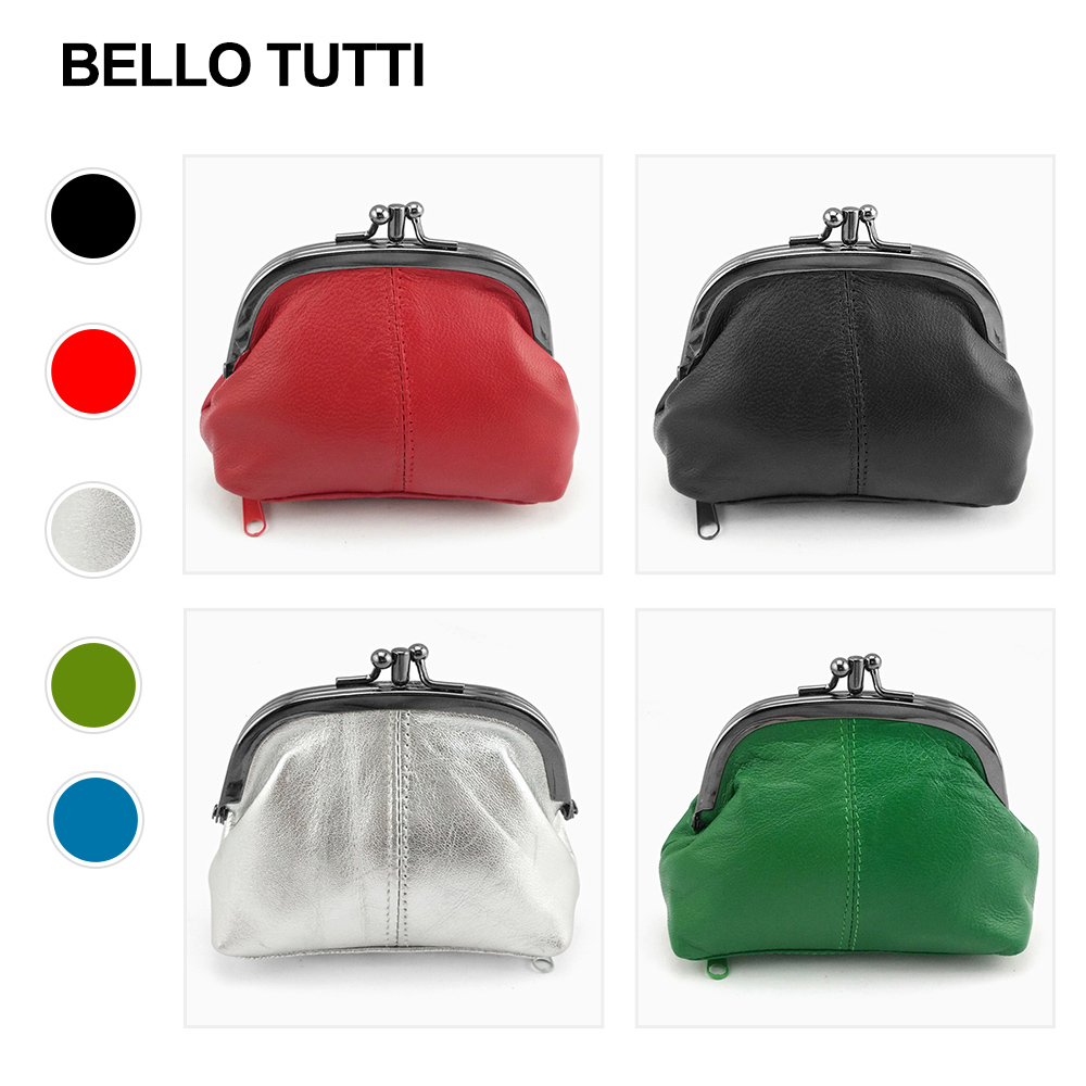 BELLO TUTTI Leather Coin Purse Women Small Wallets Original Genuine Sheepskin Change Purse Card Holder Coin Wallet Purse