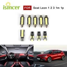 9Pcs Canbus Led Interieur Verlichting Voor Seat Leon 1 2 3 1M 1P 5F Fr Cupra R 2009 2012 Lezen Make Kofferbak Verlichting Lamp