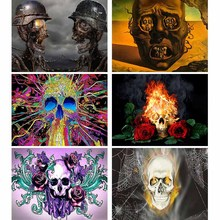 Diamond Embroidery Painting Soldier-Skeleton-Pictures Living-Room-Decor Rose Full I86