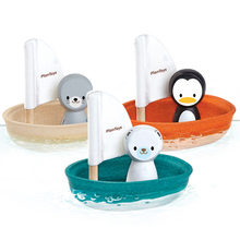 Toys Toddler PlanToys Sailboat Seal Penguin Polar Bear Bathing Children Baby and Infant Wooden Toys Baby Bath  Kids Water Toys