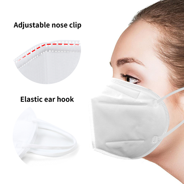 masque mascarillas FFP2 KN95 Dustproof Anti-fog And Breathable Face Masks Filtration Mouth Masks 5Layer Mouth Muffle Cover Mask 2