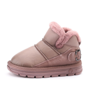 2019 kids shoes winter baby girls fur snow boot fashion brand toddler boys warm casual shoes children short boots leather buty